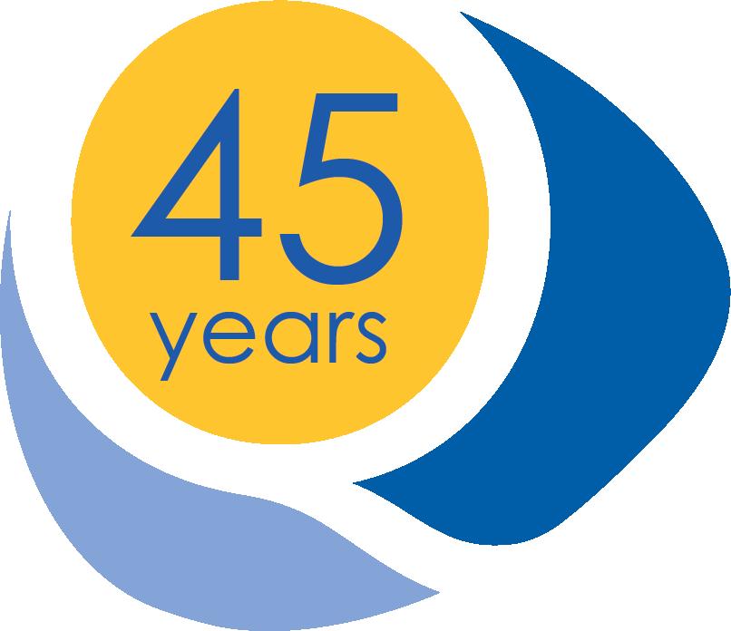 45 years Q logo