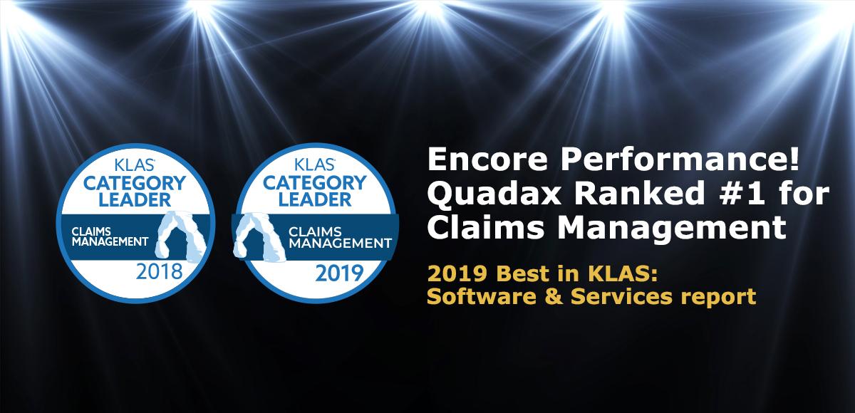 KLAS-Quadax-Category-Leader-Claims-Management-2019
