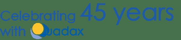 45 years logo written out