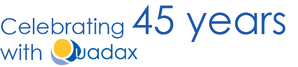 Quadax-45-years-logo