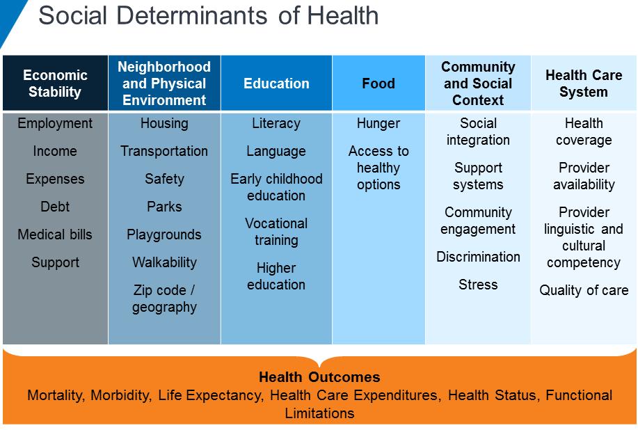 Social Determinants of Health Categories