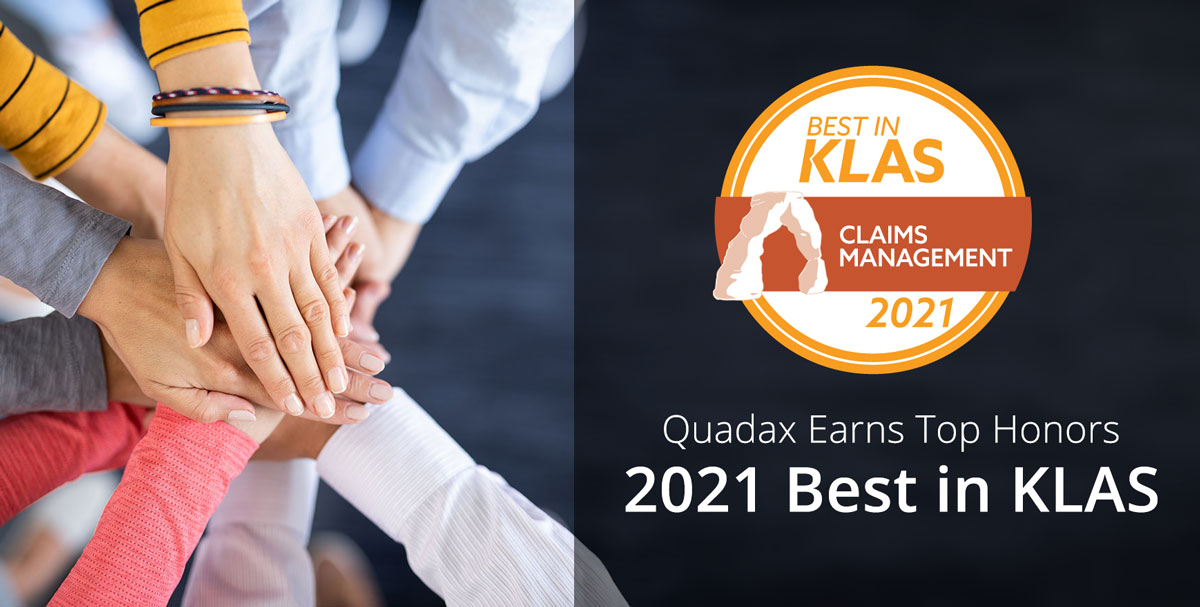 Quadax Recognized Best in KLAS for Claims Management